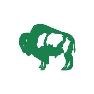 Buffalo small 3 Tall GREEN vinyl window decal sticker