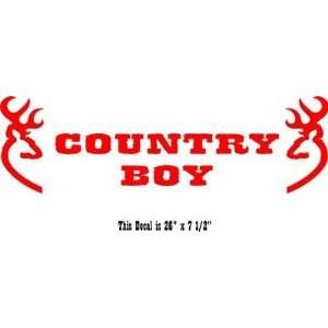 Country Boy Banner Car Truck Windshield Banner Made In USA RED