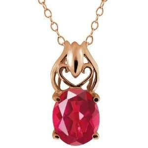 Ct Oval Last Dance Pink Mystic Quartz 14k Rose Gold Pendant Jewelry
