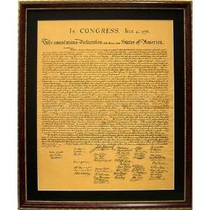 The Declaration of Independence High Quality Replica Framed and Matted