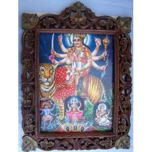 Maa Vaishano Devi with Godess Laxmi Saraswati & Kali Poster Painting