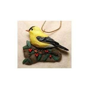New Fisher Wildlife Goldfinch W/ Holly Beautiful Stylish Modern Design
