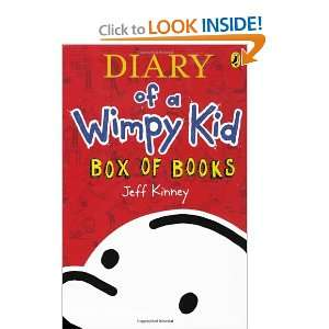 Diary of a wimpy kid box of books by kinney jeff author diary of a