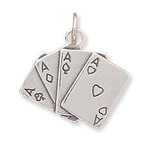 Four of a Kind Playing Cards Charm Jewelry