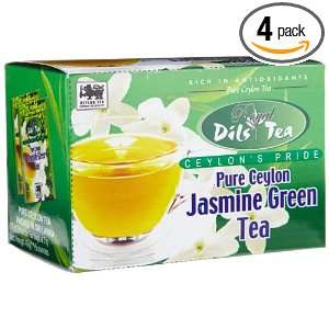 Dils Royal Tea, Jasmine Green Tea, 20 Count Foil Envelopes (Pack of 4
