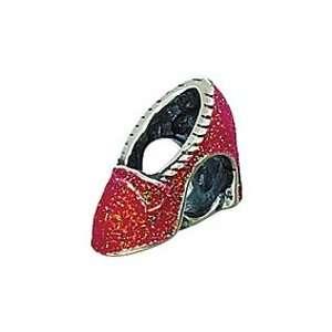 Red Ruby High Heel Bead Charm. . Zable