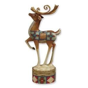Jim Shore Heartwood Creek Lodge Reindeer Prancer Figurine Jewelry