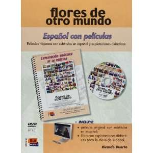 Espanol Con Peliculas Flores De Otro Mundo   DVD + Book