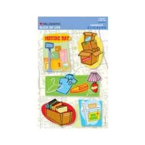 Moving Day Cardstock Scrapbook Stickers (31371) Arts