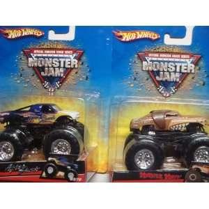 Wheels Monster Jam 2 Popular Trucks After Shock & Monster Mutt 1/64