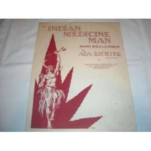 INDIAN MEDICINE MAN A. RICHTER 1934 PAINO SOLO INDIAN FOLDER 320 SHEET