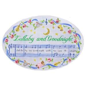 The Kids Room Lullaby and Goodnight Oval Wall Plaque Baby