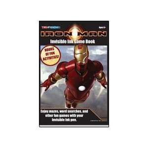 Marvel Iron Man Invisible Ink Game Book by Lee