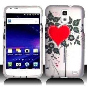 Skyrocket i727 i 727 White with Red Love Heart Black Flower Leaves