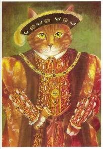 ¿Quién quiere jugar al gatarte? - Página 4 16052544_henry-vlll-the-tudor-cat-by-susan-herbert-postcards-ebay