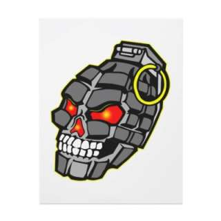 Skull Hand Grenade Personalized Flyer by WhiteTiger_LLC