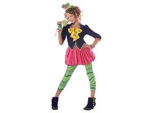 The Mad Hatter Alice Wonderland Girl Dress Child Costume