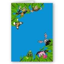 Jungle Animals Hiding Greeting Card by markmurphycreative