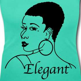Naturally Elegant  Natural Hair Cute Tees