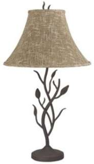 Shop Table Lamps > Black > Metal > Wrought Iron Tree Table Lamp
