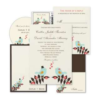 Love Birds Wedding RSVP Card Custom Invites from Zazzle