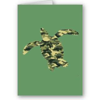 This Camouflage Sea Turtle Silhouette is a sure conversation starter
