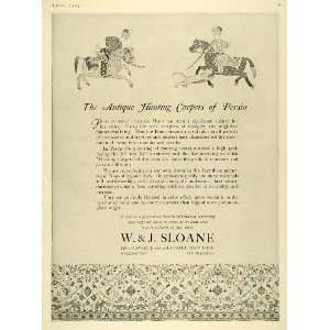 1924 Ad W. J. Sloane Antique Persian Hunter Rugs Decor