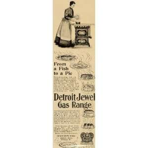 1898 Ad Detroit Jewel Gas Range Stove Baking Cooking