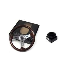 88 95 Mazda 323 NRG 350MM Classic Wood Steering Wheel + Hub Adapter