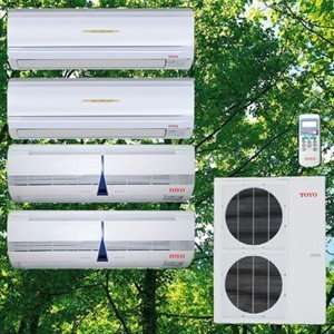 Air Conditioner with Heat Pump or Central Quad Zone Split Air