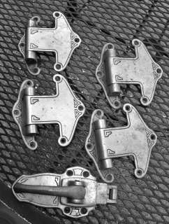 Vintage refrigerator hardware aluminum hinges and handle