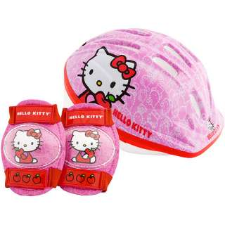 Hello Kitty Toddlers Bike Helmet, Safety Pads Value Pack