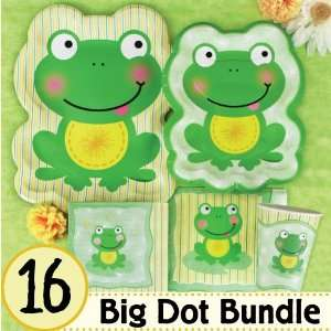 Froggy Frog Birthday Party Supplies & Ideas   16 Big Dot