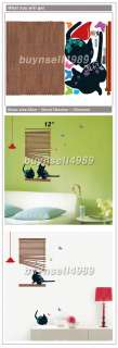BLIND BLACK CAT WALL DOOR WINDOW ECO STICKER SS58233