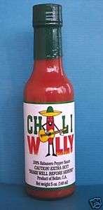 Chili Willy Habanero Hot Sauce 5oz bottle