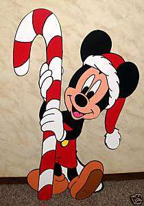 MICKEY MOUSE WITH CANDY CANE CHRISTMAS YARD DECORATION