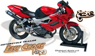 EASYRIDE MOTORCYCLE WHEEL CHOCK HARLEY CRUSIER SPORT BIKE TRAILER
