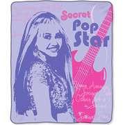 Hannah Montana Teen Idol Plush Throw Blanket Hannah Montana Teen Idol