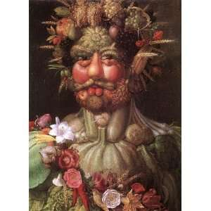 Hand Made Oil Reproduction   Giuseppe Arcimboldo   32 x 44