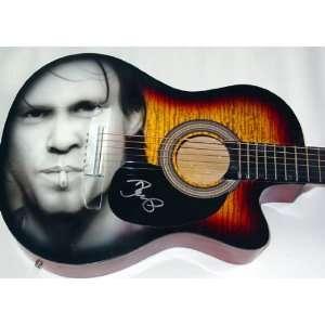 John Cougar Mellencamp Autograph Signed Airbrush Guitar