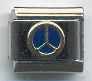 UBERRY Italian Charm Brass Mercedes Benz Logo u061
