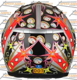 Suomy Excel Spec 1R Extreme Gambler Full Face Motorcycle Helmet Large