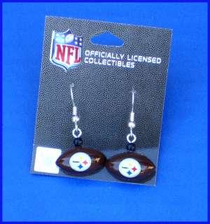NFL Pittsburgh Steelers Logo Football Earrings