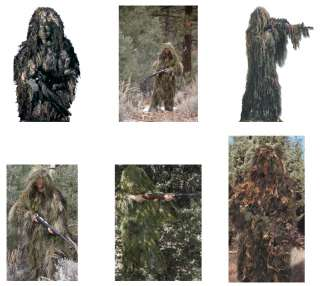 Camouflage Paintball/Hunting FULL BODY Ghillie Suits