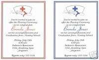 20 Custom Graduation Party Invitations/Nursing/Nurse