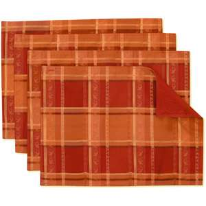 Patriotic Patch Quilted Placemats Set Of 2 In Rustic Americana Pattern