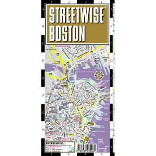 Streetwise Boston Map   Laminated City Street Map of