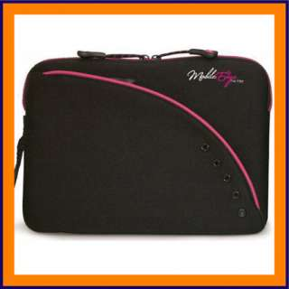 Black & Pink 10 Laptop Netbook Case Neoprene Sleeve