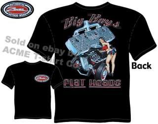 Flat Heads Roadster Hot Rod T Shirt, Silk Screen, XXL