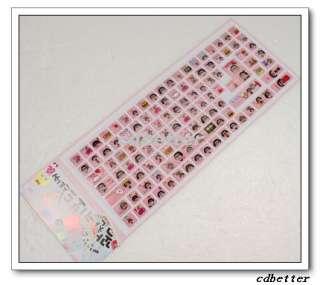 CUTE GIRL Desktop Laptop Notebook Keyboard PVC Stickers
